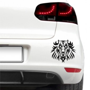 Sticker auto - Leu tribal