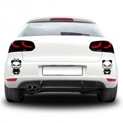 Sticker auto - Cuplu panda