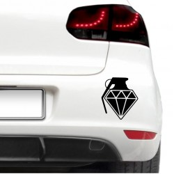 Sticker auto - Grenada de diamant