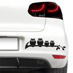 Sticker auto - Familie de bufnite