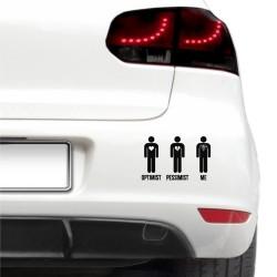 Sticker auto - Optimist, pesimist, eu