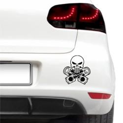 Sticker auto - Craniu cu pistoane