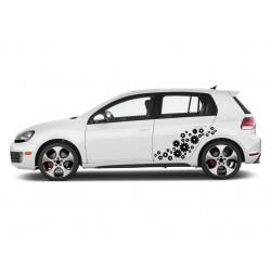 Sticker auto - Floricele