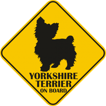Sticker auto - Yorkshire terrier
