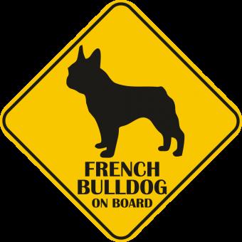 Sticker auto - Bulldog francez