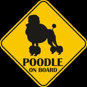 Sticker auto - Poodle