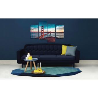 Tablou canvas 4 piese - Minunata Golden Gate