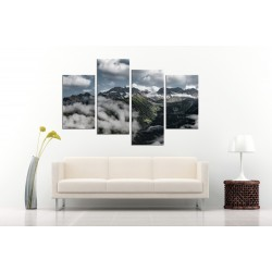 Tablou canvas 4 piese  - Printre nori