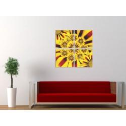 Tablou canvas 4 piese - Floarea soarelui