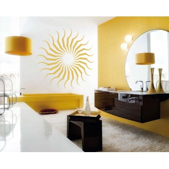 Soarele abstract *Promotie* 83x83cm Portocaliu