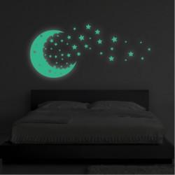 Sticker Fosforescent - Luna si stelele