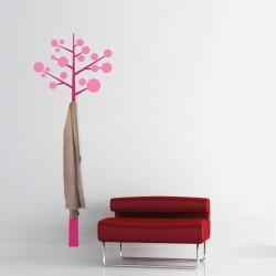 Sticker cuier de haine - Pom modern - Magenta