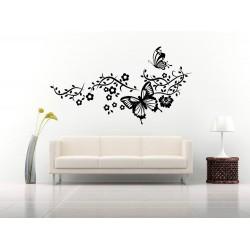 Decoratiune florala cu fluturi