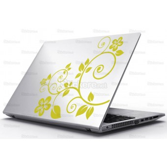 Sticker Laptop - Frunze si flori
