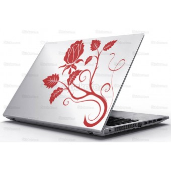 Sticker Laptop - Panou trandafir