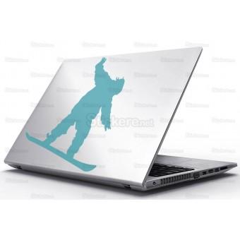 Sticker Laptop - Baiat cu snowboard