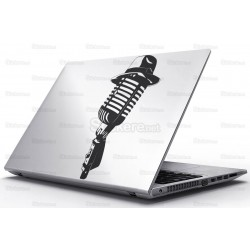 Sticker Laptop - Microfon cu palarie