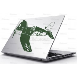 Sticker Laptop - Avionul de lupta Vought F4U