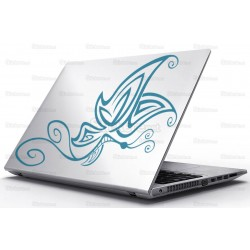 Sticker Laptop - Fluturele colorat