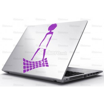 Sticker Laptop - Femeia
