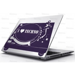 Sticker Laptop - Techno