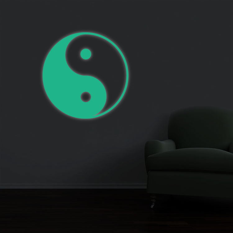 Sticker Fosforescent - Yin Yang