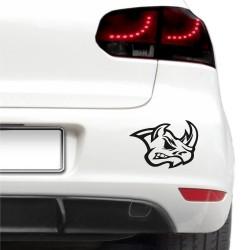 Sticker auto - Cap de rinocer
