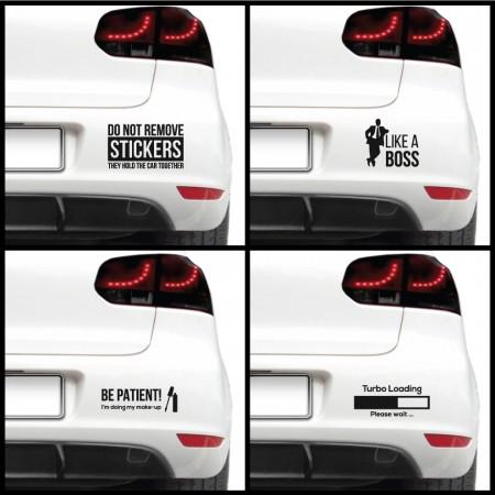 Sticker auto - Texte haioase (pachet)