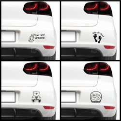 Sticker auto - Baby on board (pachet)