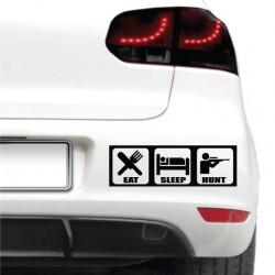 Sticker auto - Eat, sleep, hunt
