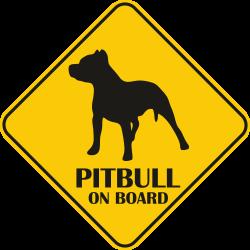 Sticker auto - Pitbull