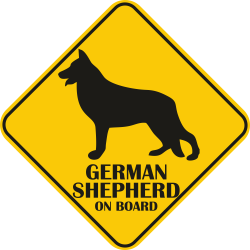 Sticker auto - Ciobanesc German