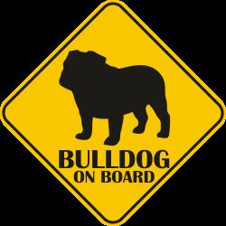 Sticker auto - Bulldog