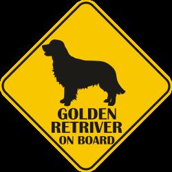 Sticker auto - Golden Retriever