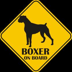 Sticker auto - Boxer