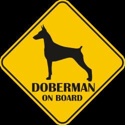 Sticker auto - Doberman