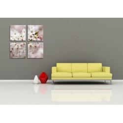 Tablou canvas 4 piese - Floare de cirese