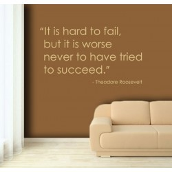 It is hard to fail