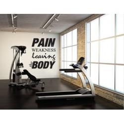 Pain is Weakness Leaving...