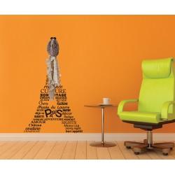Sticker cuier haine - Paris
