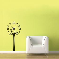 Copac inflorit + ceas perete