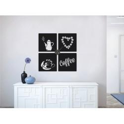 Coffee love + ceas perete