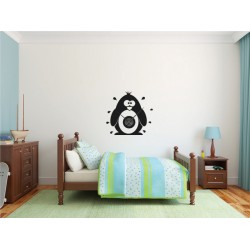Pinguin + ceas perete