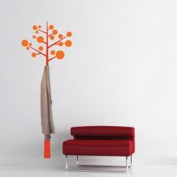 Sticker cuier de haine - Pom modern - Orange