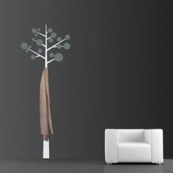 Sticker cuier de haine - Pom modern - Alb polar