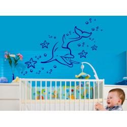 Delfin cu stele de mare